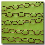 1-083 Antique Copper Large Stylish Oval Chain