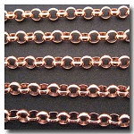 1-095 Rose Gold Plate Large Rolo Chain 7mm