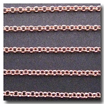 1-212 New Rose Gold Plate Small Classic Rolo Style Chain 2mm