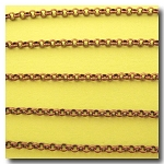 1-156 Antique Copper Small Classic Rolo (Belcher) Style Chain 2.5mm