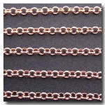 1-307 Rose Gold Plate Rolo Chain 3mm