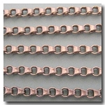 1-596 Brushed Silver Plate Urban Style Chain 4.5mm