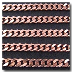 1-604 Rose Gold Plate Diamond Cut Boxcar Chain 6mm