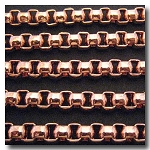 1-615 Rose Gold Plate New Box Chain 7mm