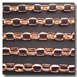 1-619 Rose Gold Plate Large Oval Rolo 8.8 x 12mm