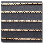 1-645 Matte Gold Plate Edging Chain 1.2mm