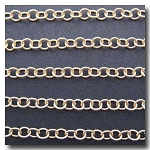1-648 Matte Gold Plate Small Contemporary Round Curb Chain 3.8mm