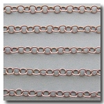 1-649 Brushed Silver Plate Small Contemporary Round Curb Chain 3.8mm