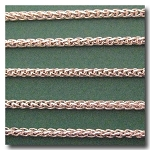1-651 Silver Plate Small Wheat Chain 3mm