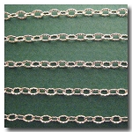 1-683 Silver Plate Petite Etched Margarithe Chain