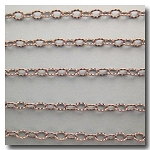 1-684 Brushed Silver Plate Petite Etched Margarithe Chain