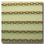 1-686 Antique Brass Petite Etched Margarithe Chain