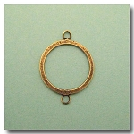 1-910 Antique Brass Flat Ring w/Loops 26mm