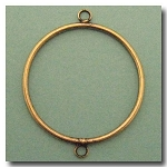 1-911 Antique Brass Ring w/Loop 40mm