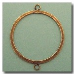 1-912 Antique Brass Flat ring w/Loops 40mm