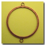 1-916 Antique Copper Flat Ring w/Loops 40mm