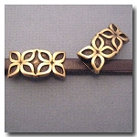 1-1122 Antique Brass Euro Licorice Abstract Flower