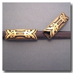 1-1124 Antique Brass Euro Licorice Abstract Arrow