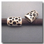 1-1125 Antique Silver Euro Licorice Multi-Hole Tube