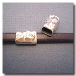 1-1127 Antique Silver Euro Licorice Distressed Tube