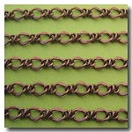 1-208 Antique Copper Lovers Knot Chain