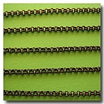 1-211 Antique Copper Small Classic Rolo (Belcher) Style Chain 2mm
