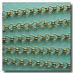 1-243 Antique Brass Petite Steampunk Chain