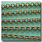 1-244 Antique Brass Large Steampunk Chain