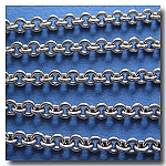1-259 Stainless Steel Small Oval Chain