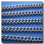1-260 Stainless Steel Diamond Cut Cable Chain
