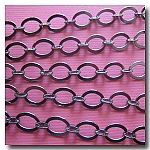 1-292 Gunmetal Smooth Oval Style Chain