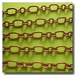 1-294 Antique Copper Medium Romantic Style Chain