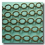 1-296 Antique Brass Smooth Oval Style Chain