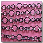 1-308 Gunmetal Three Ring Design Chain