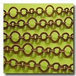 1-310 Antique Copper Three Ring Design Chain