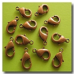 1-317 Antique Copper Lobster Clasp 15 X 9mm