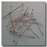 1-336 Brushed Silver Plate Headpins