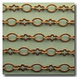 1-343 Antique Brass Abstract Flower Chain