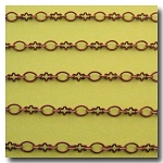 1-344 Antique Copper Abstract Flower Chain