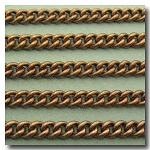 1-348 Antique Brass Concave Curb Chain 4mm