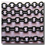 1-358 Shiny Small Oval Black Chain 3.5mm x 3mm