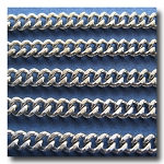 1-258 Stainless Steel Diamond Cut Boxcar Curb Chain 4mm