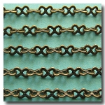 1-387 Antique Brass Medium Bowtie Style Chain