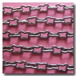 1-072 Vintage Gunmetal  Kidney Shaped Chain