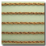 1-135 Antique Brass Rope Style Chain 3mm