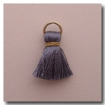 1-1738 Mystique Silver Tassel w/Antique Gold Plate Jump Ring - 1/2