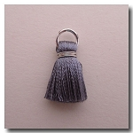 1-1739 Mystique Silver Tassel w/Antique Silver Plate Jump Ring - 1/2