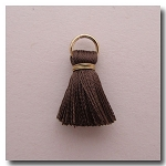1-1741 Taupe Tassel w/Antique Gold Plate Jump Ring - 1/2