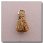 1-1743 Antique Gold Tassel w/Antique Gold Plate Jump Ring - 1/2