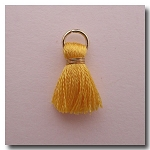1-1745 Marigold Tassel w/Antique Gold Plate Jump Ring - 1/2